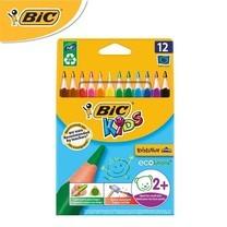 BIC Kids ดินสอสีไม้ ด้ามสามเหลี่ยม Evolution Triangel 12 สี