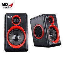 MD-TECH Speaker USB 2.0 SP-17 Black/Red