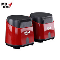 MD-TECH Speaker USB 2.0 SP-15 Red