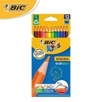BIC Kids (1 แถม 1) ดินสอสีไม้ Evolution 12 สี
