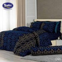 Satin ผ้าปูที่นอน ลาย D91 6 ฟุต