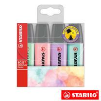 STABILO Boss Pastel ชุดปากกาเน้นข้อความ Boss in Wallet (แพ็ก 4 สี)