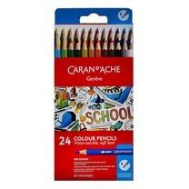 Caran D'Ache ชุดสีไม้ระบายน้ำ รุ่น School Line 24 สี กล่องกระดาษ