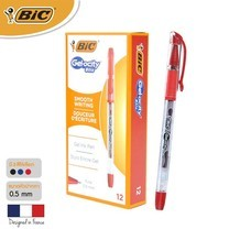 BIC ปากกาเจล Gel-ocity Stic 0.5 มม. (12 ด้าม/กล่อง) สีแดง