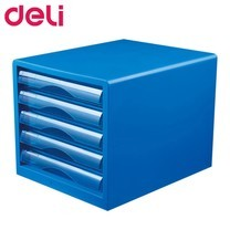 Deli 9777 ตู้เอกสาร 5 ชั้น A4 สีฟ้า