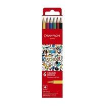 Caran D'Ache ชุดสีไม้ รุ่น School Line 6 สี