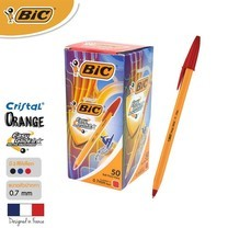 BIC ปากกาลูกลื่น Orange Fine 0.7 มม. (50 ด้าม/กล่อง) สีแดง