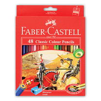 Faber Castell 48 Classic Colour Pencils in Paper Box