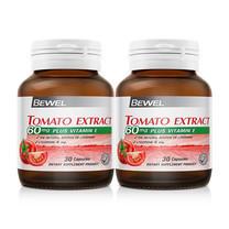 BEWEL Tomato Extract 60 มก. plus Vitamin E 30 ปริมาณ 30 แคปซูล แพ็ก 2 ขวด