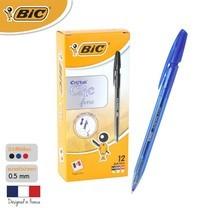 BIC ปากกาลูกลื่น Cristal Clic 0.8 มม. (12 ด้าม/กล่อง) สีน้ำเงิน