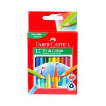 Faber-Castell ดินสอสีไม้สั้น 12 สี ด้ามสามเหลี่ยม