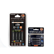 eneloop Panasonic Smart & Quick Charger with eneloop Pro AA x 4ชิ้น AAA x 4ชิ้น รุ่น K-KJ55HCC40T + BK-4HCCE/4BT