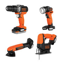 BLACK&DECKER 4-TOOL COMBO KIT GoPak