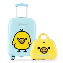 Rilakkuma กระเป๋าเดินทาง สกรีนลายคิอิโระอิโทริ ขนาด 20 นิ้ว : สีฟ้า (แถมใบเล็กสีเหลือง)