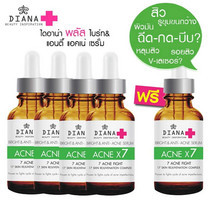 Diana Plus [4 ฟรี 1] Bright & Anti-acne serum 5x10 ก.