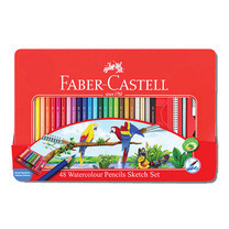 Faber Castell 48 Watercolour Pencils in Metal Tin Box