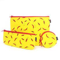 Mais Mais เซตกระเป๋าใส่ดินสอ พริก สีเหลือง