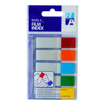 Double A Film Index Flags 5 Colors Half (แพ็ก 24)