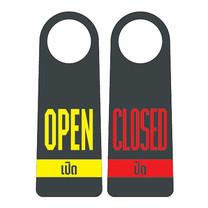 Robin ป้ายแขวนประตู 2 ด้าน OPEN / CLOSED (แพ็ก 3 ชิ้น)