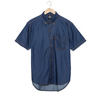 BJ JEANS Shirt O-JS-1205 #Topstitched Button-down Blue
