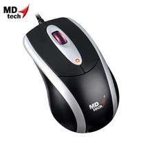 MD-TECH Optical Mouse USB MD-180 Black/Silver