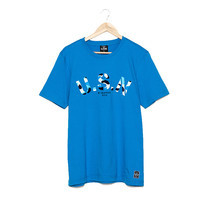 BJ JEANS T-shirt BJMT-1045 #Jeanius Printed LightBlue Size L