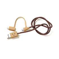 cheero สาย Cable รุ่น DANBOARD USB Cable with Lightning & Micro USB (CHE-225) (ความยาวของสาย 50 ซม.)