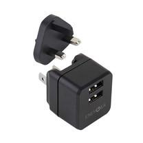 Energea Wall CG TL 2.4A 2 USB UK Black