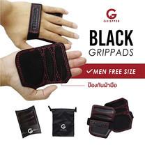 Grispper แผ่นรองฝ่ามือหนังแท้ สำหรับผู้ชาย ฟรีไซส์ สีดำ
