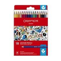 Caran D'Ache ชุดสีไม้ระบายน้ำ รุ่น School Line 18 สี กล่องกระดาษ