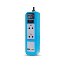 ELECTON สายพ่วง ปลั๊กไฟ คุณภาพ A มอก. 2 เต้า 1 สวิตช์ 2 เมตร 2 USB 10A รุ่น EP-A202U2 สีฟ้า