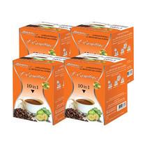 Starwell ผลิตภัณฑ์เสริมอาหาร กาแฟปรุงสำเร็จชนิดผงสตาร์เวลล์ แอลคาร์นิทีน บรรจุ 10 ซอง/กล่อง แพ็ก 4 กล่อง
