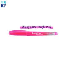 Double A ปากกาเน้นข้อความสีนีออน รุ่น Bright Color สีชมพู