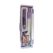 GROS ชุดวงเวียนพร้อมดินสอไม้ + กบเหลา (คละสี)
