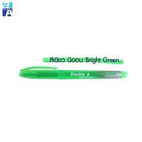 Double A ปากกาเน้นข้อความสีนีออน รุ่น Bright Color สีเขียว