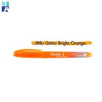 Double A ปากกาเน้นข้อความสีนีออน รุ่น Bright Color สีส้ม