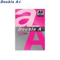Double A กระดาษสี A4 หนา 75 แกรม (แพ็ก 100 แผ่น) สีชมพูนีออน (Neon Pink)
