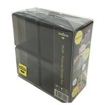 UDEE กล่องพลาสติกเล็กอเนกประสงค์ P8 (แพ็ก 8 ชิ้น) สีดำ