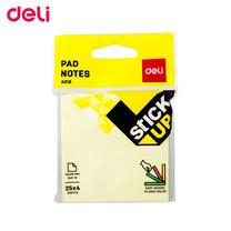 Deli A01802 กระดาษโน๊ต 3 x 3 นิ้ว คละสีในแพ็ก (แพ็ก 100 แผ่น)