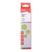 Deli ดินสอไม้ 2B คละสี กล่องละสี (12 แท่งในกล่อง)