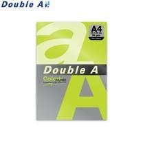 Double A กระดาษสี A4 หนา 75 แกรม (แพ็ก 100 แผ่น) สีเขียวนีออน (Neon Green)