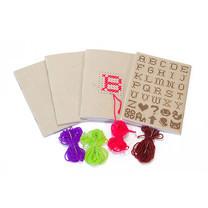 Double A สมุดมุงหลังคา A6 รุ่น Cross stitch DIY 24 แผ่น/เล่ม