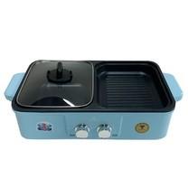 Mitsumaru Electric BBQ & Hotpot 2 IN 1 รุ่น AP-MC10 สีฟ้า