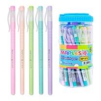 Maples 875 ปากกาลูกลื่นหมึกน้ำเงิน 0.5 มม. คละสี (แพ็ก 50 ด้าม)