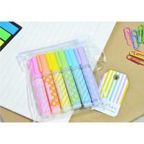 Aihao 6410 ปากกาไฮไลท์แฟนซี (แพ็ก 6 สี 6 ด้าม)