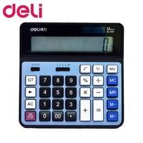 Deli 2137 เครื่องคิดเลขแบบตั้งโต๊ะ 12 หลัก สีฟ้า