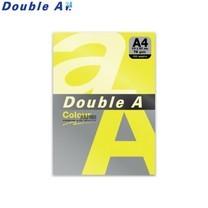 Double A กระดาษสี A4 หนา 75 แกรม (แพ็ก 100 แผ่น) สีเหลืองนีออน (Neon Yellow)