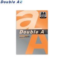Double A กระดาษสี A4 หนา 80 แกรม (แพ็ก 100 แผ่น) สีส้มเข้ม (Saffron)