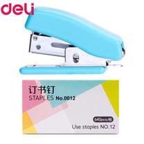 Deli 0225 ชุดเครื่องเย็บกระดาษจิ๋ว+ลวดเย็บ (คละสี)