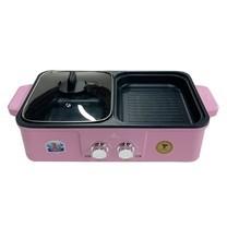 Mitsumaru Electric BBQ & Hotpot 2 IN 1  รุ่น AP-MC10 สีชมพู